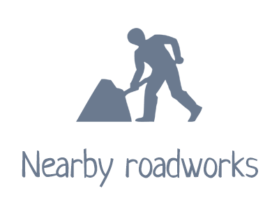 Nearby roadworks